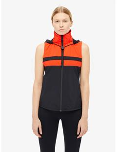 Womens Kiera Lux Softshell Vest Racing Red