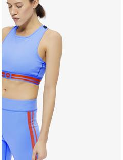 Womens Alexis Compression Sports Bra Top Silent blue