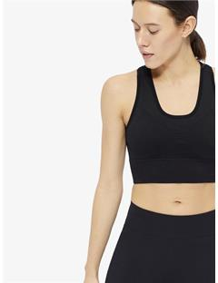 Womens Ebba Seamless Sports Bra Top Black