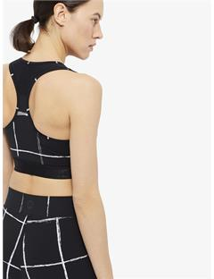 Alexis Printed Jersey Sports Bra Top Window pane