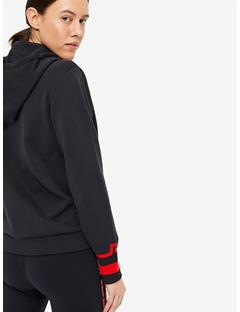 Womens Cyra French Terry Hoodie Black