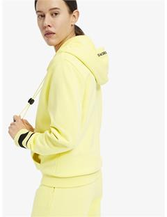 Womens Cyra French Terry Hoodie Still yellow