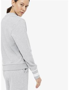 Womens Mallo French Terry Sweatshirt Stone Grey Melange