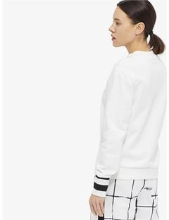 Womens Mallo French Terry Sweatshirt White
