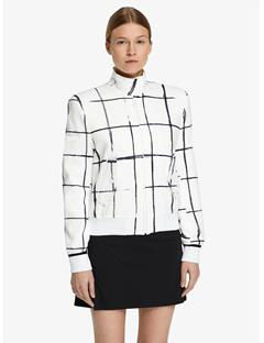 Womens Lenore Tech Track Jacket Inverted window pane