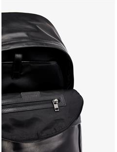 Mens Leather Backpack Black