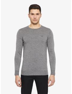 Mens Lyle True Merino Sweater Grey Melange