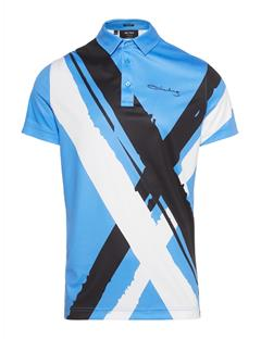 Mens LIMITED EDITION Art Polo #3 Silent blue