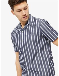 David Pop Stripe Shirt JL Navy