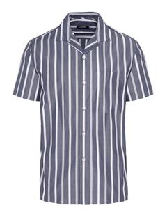 Mens David Pop Stripe Shirt JL Navy