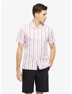 David Pop Stripe Shirt Racing Red