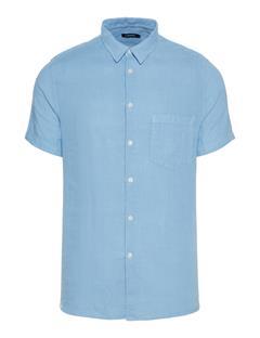Mens Daniel Clean Linen Short Sleeve Shirt Allure