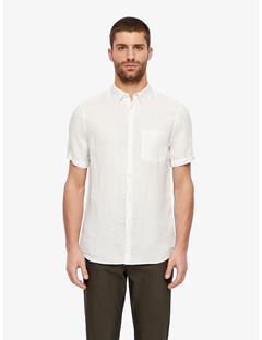 Daniel Clean Linen Short Sleeve Shirt Whisper White
