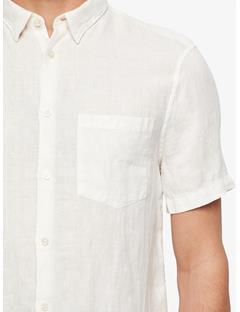 Mens Daniel Clean Linen Short Sleeve Shirt Whisper White