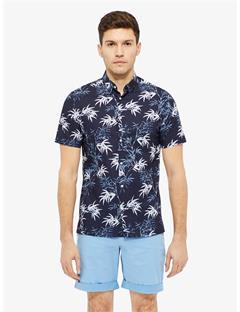 Daniel Bamboo Print Shirt JL Navy