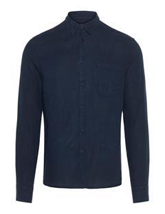 Mens Daniel Clean Linen Shirt JL Navy