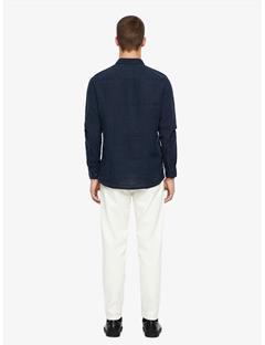 Daniel Clean Linen Shirt JL Navy