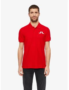Big Bridge Clean Pique Polo Racing Red