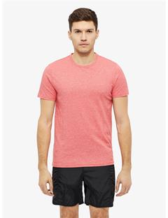 Silo Two Tone Snow Slub T-shirt Racing Red