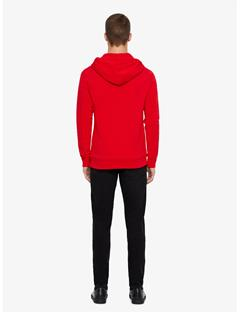 Throw Ring Loop Full Zip Hoodie Racing Red