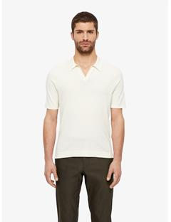 Greg Refined Cotton Polo Off White