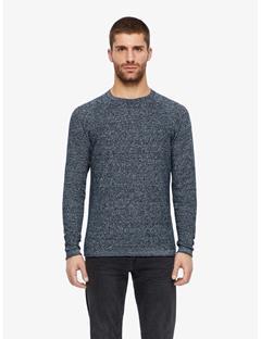 Roller 2 Tone Linen Sweater JL Navy
