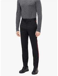 Mens Vernon Stripe Wool Twill Pants Black