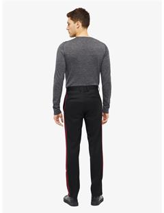 Vernon Stripe Wool Twill Pants Black