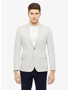 Mens Hopper Soft Cross Cotton Blazer Silver Cloud
