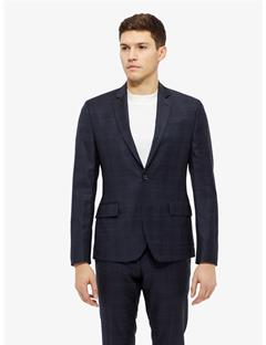 Mens Hopper Soft Note Check Blazer JL Navy