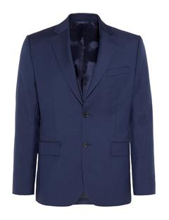 Mens Donnie Chin Mohair Blazer Mid Blue