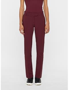 Womens Freja Micro Stretch Pants Dark Mahogany