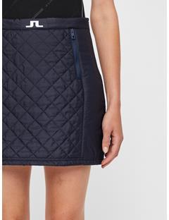 Womens Jade Quilted Skirt JL Navy