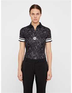 Womens Wynne TX Jersey Polo Black Sports Camo