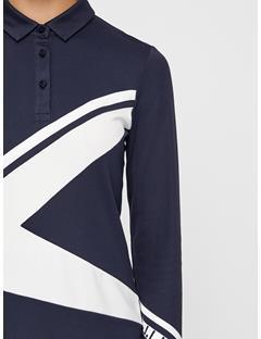 Womens Rayen Lux Pique Polo JL Navy