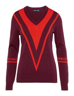 Womens Erine Sweater Dark Mahogany