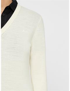 Womens Agnes Coolmax Wool Sweater Ivory