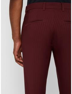 Elof Pin Stripe Pants - Regular Dark Mahogany