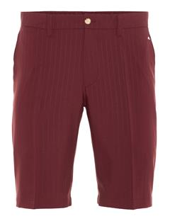 Mens Somle Pin Stripe Shorts - Tapered Dark Mahogany