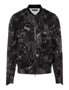 Mens Tech 2.5 Ply Bomber Jacket Black Sports Camo