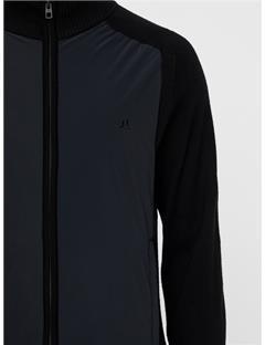 Knitted Hybrid Jacket Black