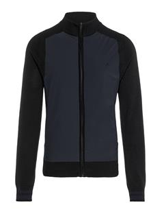 Mens Knitted Hybrid Jacket Black