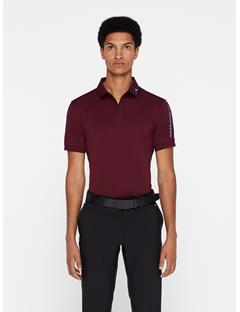 Mens Tour Tech TX Jersey Polo - Slim Fit Dark Mahogany
