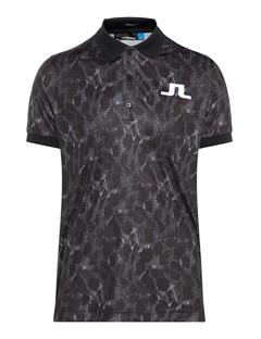 Mens Big Bridge TX Jersey Polo - Regular Fit Black Sports Camo