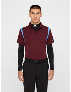 Mens Dolph TX Jersey Polo - Slim Fit Dark Mahogany