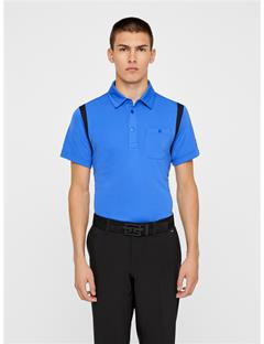 Mens Dolph TX Jersey Polo - Slim Fit Daz Blue