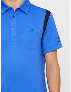 Dolph TX Jersey Polo - Slim Fit Daz Blue