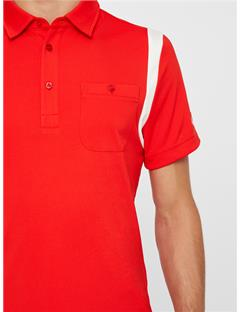 Dolph TX Jersey Polo - Slim Fit Racing Red