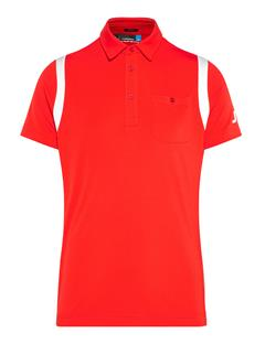 Mens Dolph TX Jersey Polo - Slim Fit Racing Red