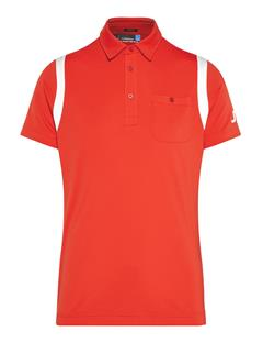 Mens Dolph TX Jersey Polo - Regular Fit Racing Red